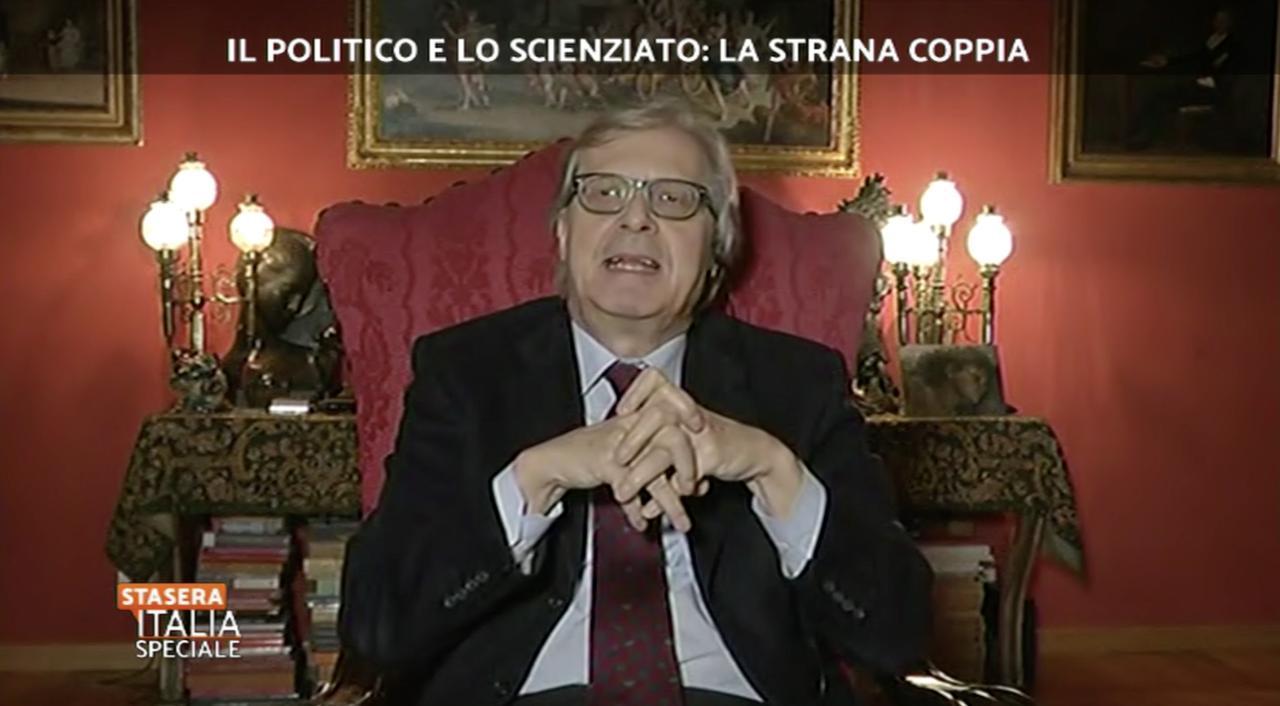 Vittorio Sgarbi Sia Maledetto Walter Ricciardi E Il Virus Stasera Italia Mediaset Play