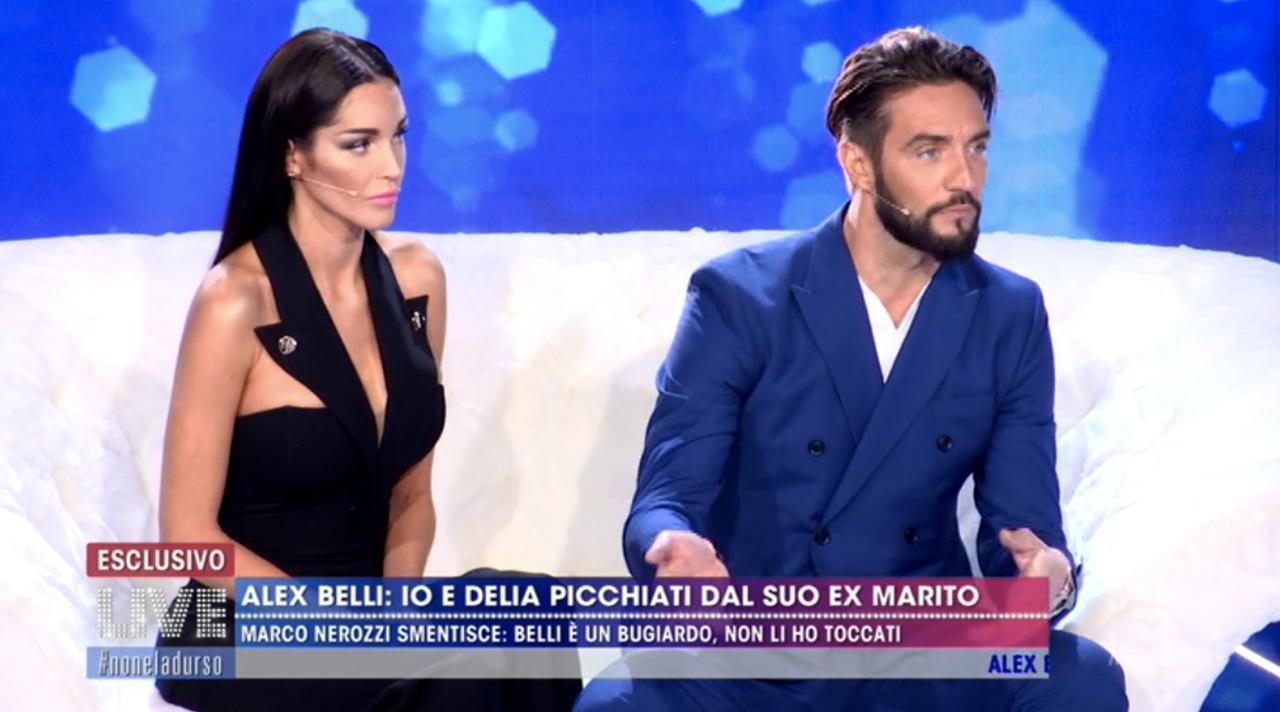 Alex Belli e Delia Suarez contro le sfere - Live - Non è la D'Urso
