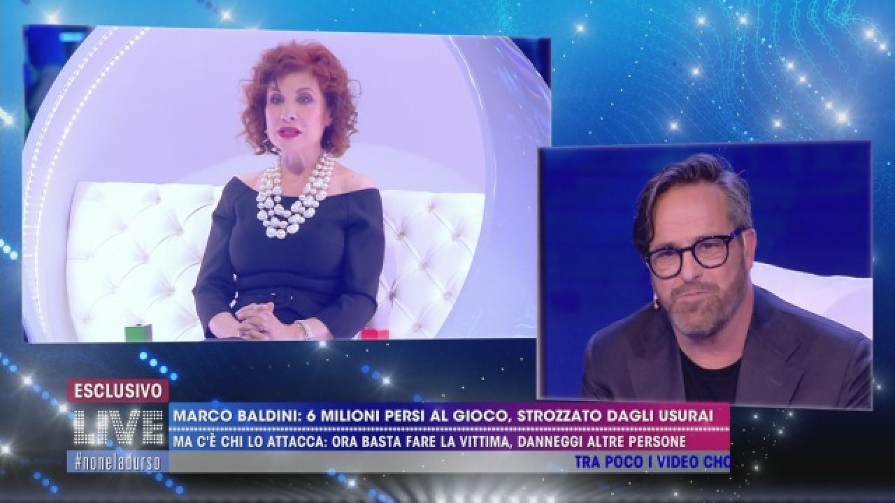 """Marco Baldini e il gioco d'azzardo: """"Mi sto curando"""""""